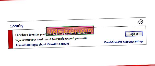 FIX: noklikšķiniet šeit, lai ievadītu jaunāko paroli sistēmā Windows 10, 8.1