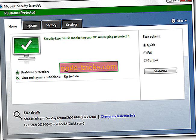 Løs: Feil på skadelig programvare i Microsoft Security Essentials