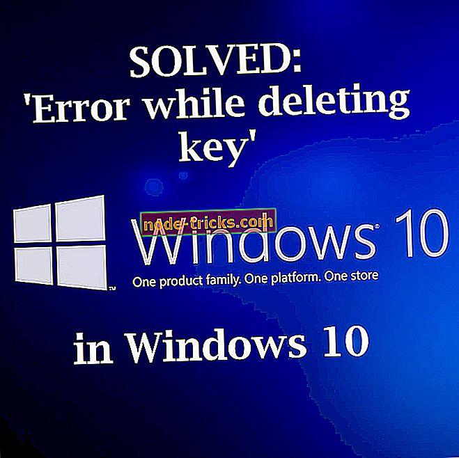 """vinduer - LØSET: """"Feil under sletting av nøkkel"""" på Windows 10"""