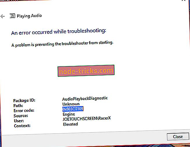 Popravi: Windows 10 napaka pri posodobitvi 0x803c0109