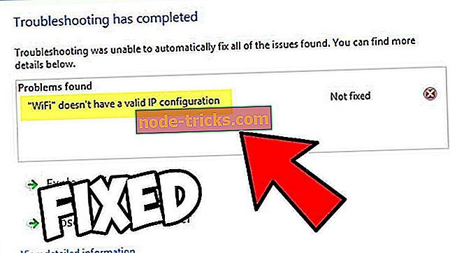 vinduer - Hva å gjøre hvis Wi-Fi ikke har gyldig IP-konfigurasjon